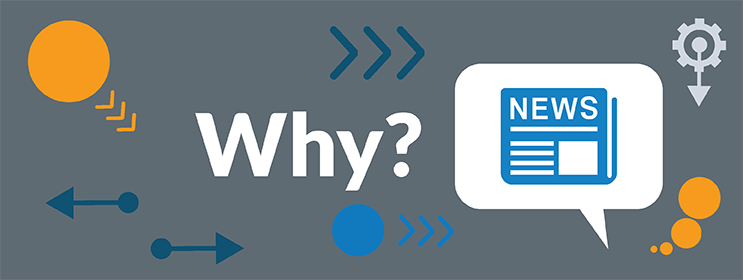 image of the word why with icon symbols about news and press releases