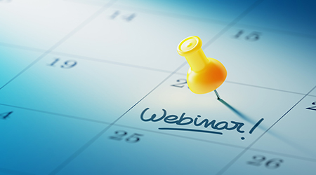 photo of calendar with pushpin on date of webinar